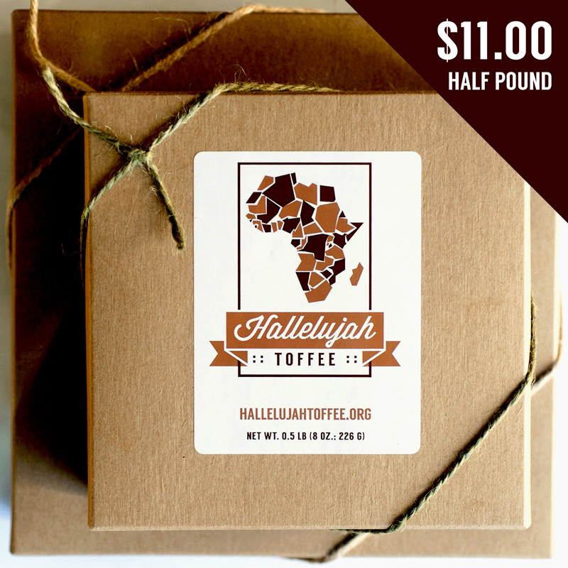 Hallelujah Toffee half pound box